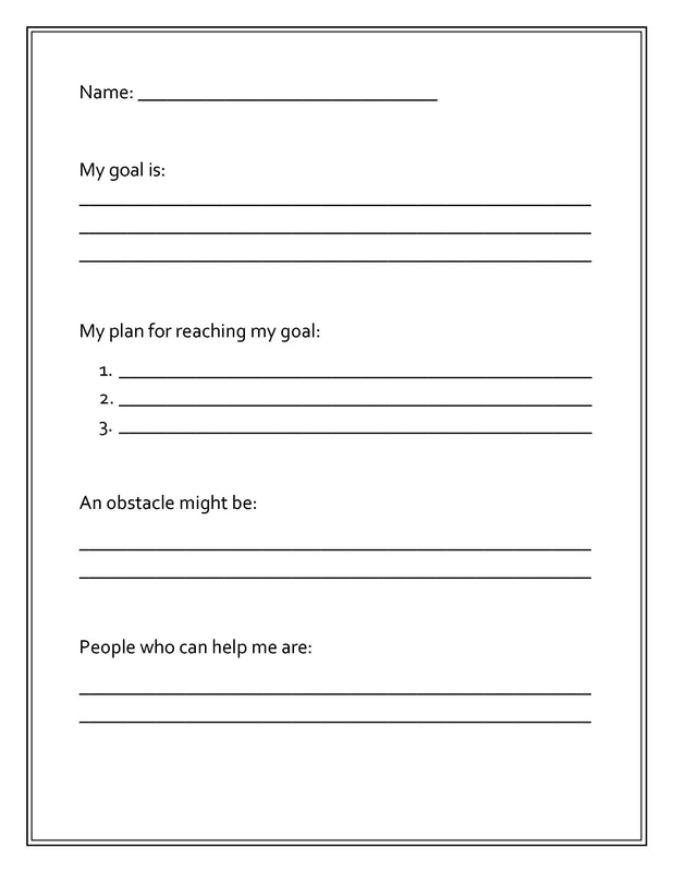Worksheets and Graphic Organizers PCS Elementary Counselors – Setting Worksheet